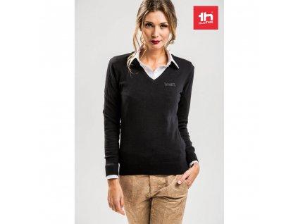 THC MILAN WOMEN. Dámsky sveter svýstrihom do V