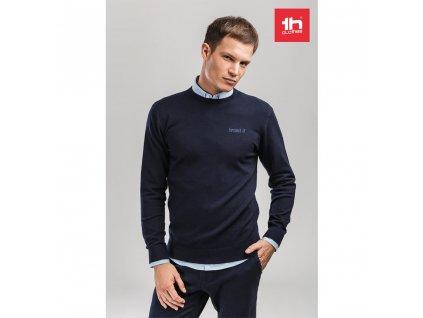 THC MILAN RN. Pánsky sveter s okrúhlym výstrihom