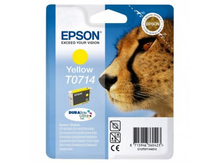 Atramentová náplň Epson T07144011 yellow pre D78/DX4000/4050/5000/5050/6000 (5,5 ml)