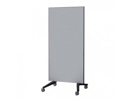 Tabuľa GLASSBOARD 90x175cm sivá na kolieskach