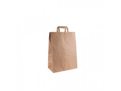 Papierová taška, ploché ušká, 320x170x440mm, hnedá