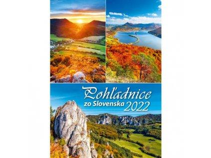 Nástenný kalendár Pohľadnice zo Slovenska 2022