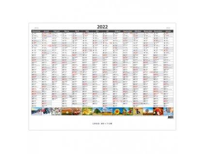 Plánovacia ročná mapa A1 obrázková 2022
