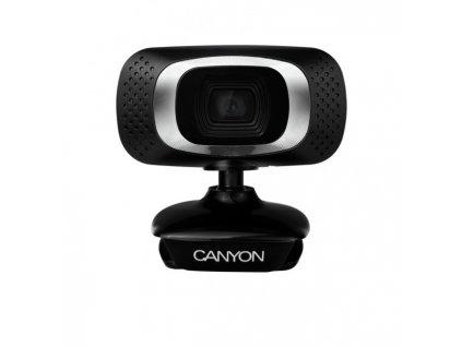 Webkamera Canyon CNE-CWC3N, HD 720p, 1Mpx, USB, mikrofón, 360° rozsah