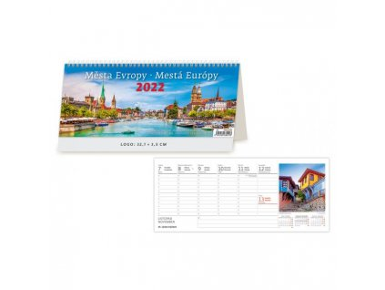 Stolový kalendár Mestá Európy 2022