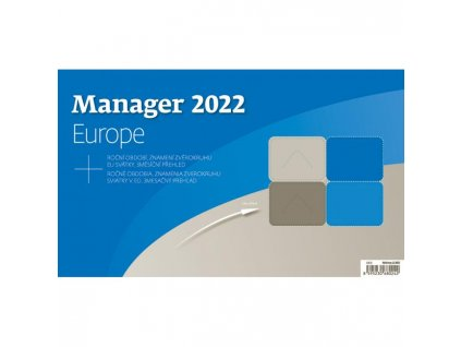 Stolový kalendár Manager Europe 2022