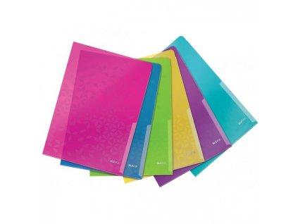 Obal L na dokumenty Leitz WOW mix farieb