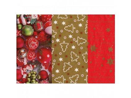 Baliaci papier vianočný mix motívov 70cmx5m