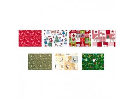 Baliaci papier vianočný mix motívov 70cmx10m