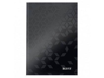 Záznamová kniha Leitz WOW A5 80 listov linajková čierna