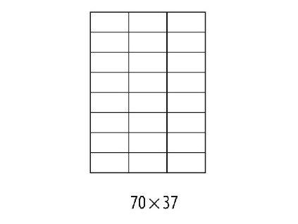 Etikety univerzálne 70x37mm Etibox A4 100 hárkov