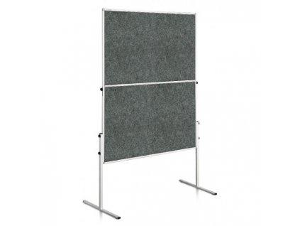 Moderačná tabuľa plstená 150x120 cm ECONOMY sivá