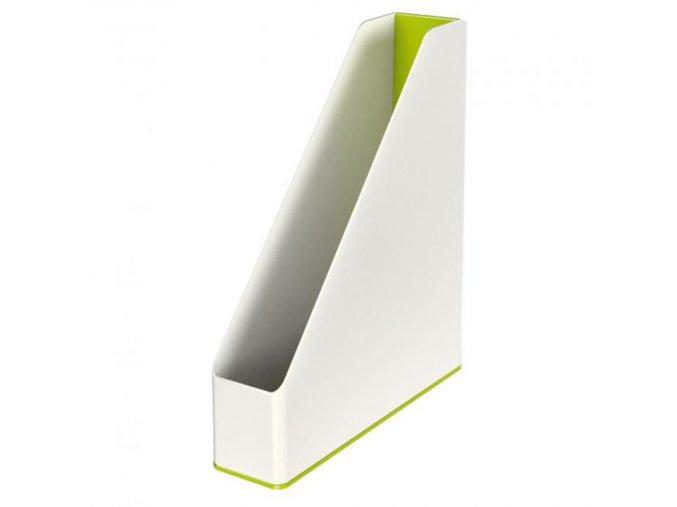 Stojan na časopisy Leitz WOW biely/metalický zelený