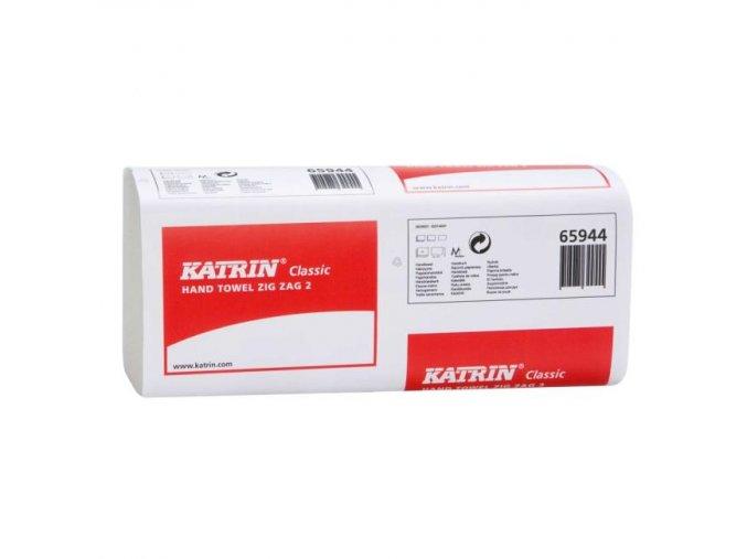 Papierové uteráky skladané ZZ 2-vrstvové KATRIN Classic biele