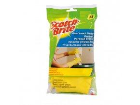 Gumené rukavice univerzálne Scotch-Brite s vôňou citrónu veľkosť M