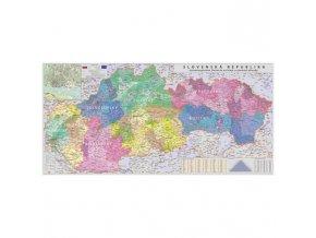 Mapa SR administratívna