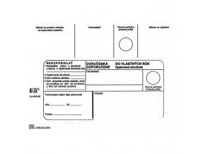 Poštové obálky B6 doručenka do VR OD, Nedoposielať, 100 ks