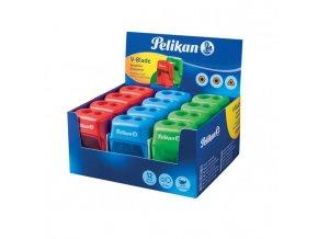 Strúhadlo Pelikan V-Blade plastové s 2 otvormi mix farieb, displej 12 ks