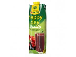 Džús Happy Day Family Multivitamín red fruit 100% 1l
