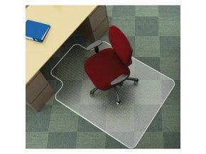 Podložka pod stoličku na koberce v tvare T 134x114,3cm