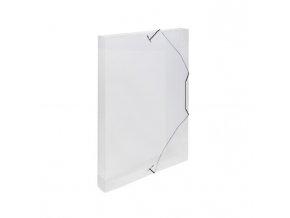Plastový box s gumičkou Karton PP priehľadný číry
