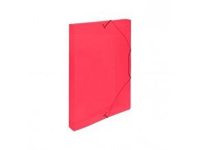 Plastový box s gumičkou Karton PP červený
