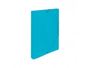 Plastový box s gumičkou Karton PP modrý