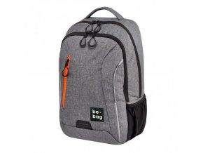 Tínedžerský batoh be.bag 28x19x43 objem 18l sivý