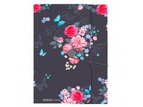 Plastový obal s gumičkou Herlitz Ladylike Kvety