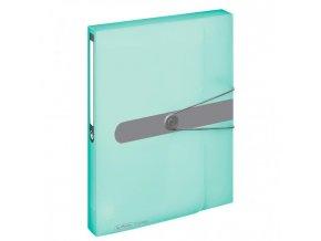 Plastový box s gumičkou Herlitz A4 PP mint