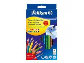 Farbičky Pelikan akvarelové 12 ks