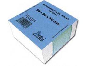 Blok kocka nelepená 95x95x50 mm biela