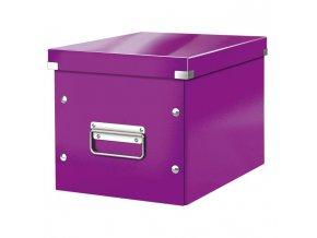 Štvorcová škatuľa A5 (M) Click & Store purpurová