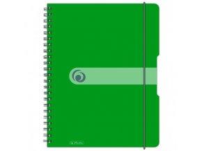 Blok poznámkový štvorčekový Herlitz Easy Orga A4 80 listov jablkovo zelený