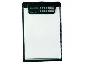 Písacia podložka A4 s kalkulačkou čierna