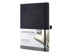 Zápisník CONCEPTUM A5, linajkový čierny, mäkká väzba