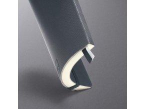 Zápisník CONCEPTUM linajkový tmavo sivý, mäkká väzba 135x210mm