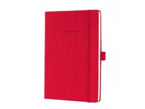 Zápisník CONCEPTUM A5, linajkový červený