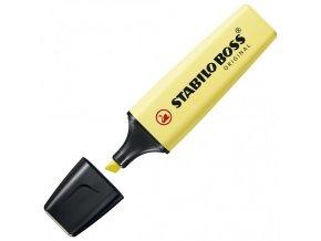 Zvýrazňovač STABILO BOSS ORIGINAL Pastel pastelový žltý