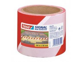 Výstražná páska nelepivá TESA Signal 80mmx100m červeno-biela