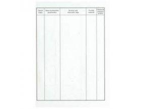 Kniha úrazov A5 16 listov