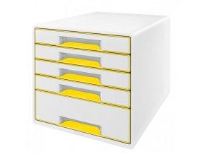 Zásuvkový box Leitz WOW žltý