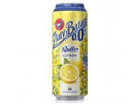 Pivo Zlatý Bažant 0% nealko radler 0,5l 6ks Citrón plech