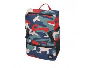 Tínedžerský batoh be.bag 28x13x43cm objem 25l Camouflage fun