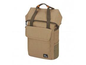 Tínedžerský batoh be.bag 32x13x45-63cm objem 25-30l Desert