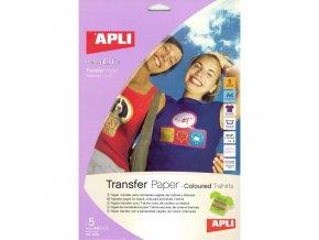 Transferový papier APLI A4 na farebné tričká 5 hárkov