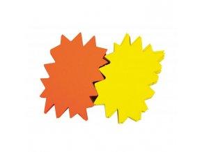 Popisovateľný farebný kartón ježko 12x16cm APLI mix žltá-oranžová