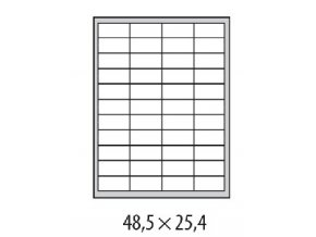 Etikety univerzálne 48,5x25,4mm Etibox A4 100 hárkov