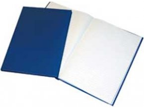 Záznamová kniha Krpa A4 100 listov linajková modrá