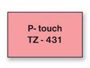 Samolepiaca páska Brother TZe-431 12mm červená/čierna